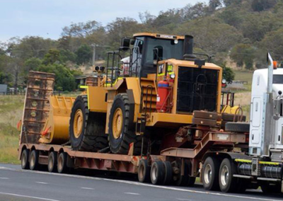 bulldozer transport